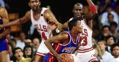 Isiah Thomas and Michael Jordan