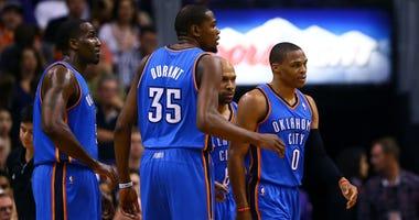 Kevin Durant, Kendrick Perkins, Russell Westbrook
