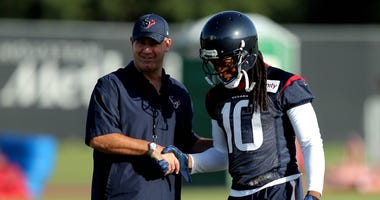 Bill O'Brien and DeAndre Hopkins