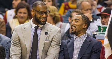 J.R. Smith and LeBron James