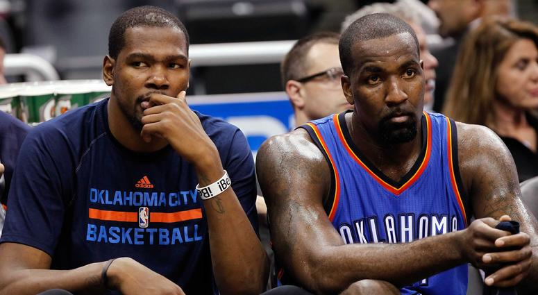 Kendrick Perkins and Kevin Durant