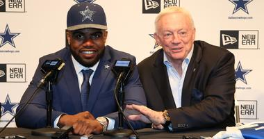Ezekiel Elliott and Jerry Jones