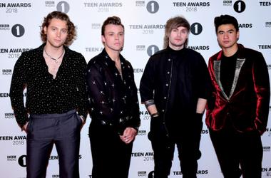 Luke Hemmings, Ashton Irwin, Michael Clifford and Calum Hood attending the BBC Radio 1's Teen Awards