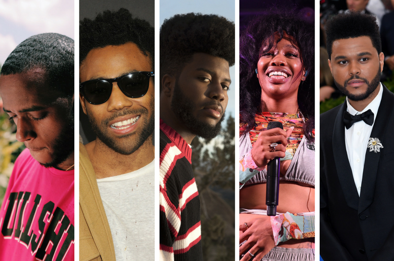 6LACK, Childish Gambino, Khalid, SZA, The Weeknd