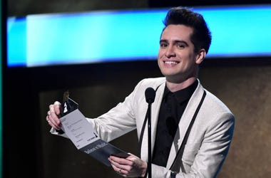 Panic! At The Disco announces an award during the Grammy Awards Premiere