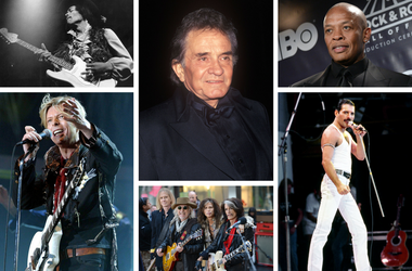 David Bowie, Jimi Hendrix, Queen, Aerosmith, Dr. Dre, Johnny Cash