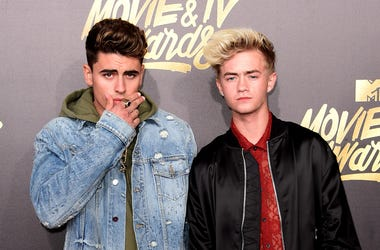 Jack Gilinsky (L) and Jack Johnson attend the 2017 MTV Movie & TV Awards