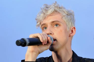 LOS ANGELES, CA - JULY 18: Troye Sivan performs for his biggest fans at a special event at Baldwin Hills Scenic Overview to celebrate his forthcoming album 'Bloom' on July 18, 2018 in Los Angeles, California.