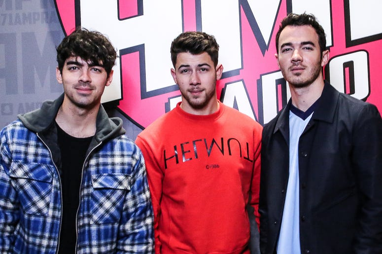 Nick Jonas Joe Jonas Kevin Jonas Jonas Brothers 97.1 AMP Radio