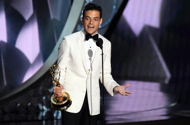 Rami Malek accepts the award for Outstanding Lead Actor In A Drama Series