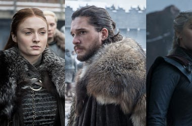Sansa, Jon, and Daenerys