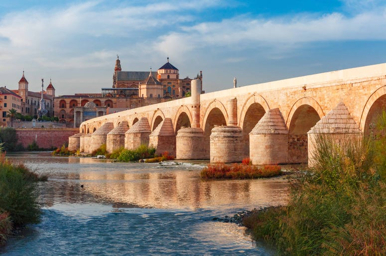 The Roman bridge in Cordoba Spain