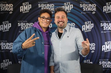 Bryce Vine Hangs With Chris Booker at 97.1 AMP Radio