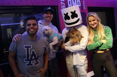 Marshmello Surprises AMP Morning Show With Puppies