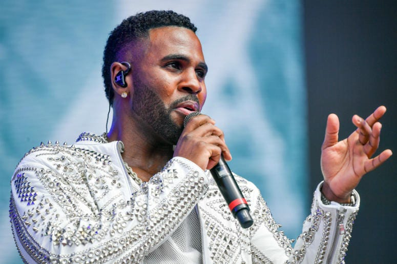 Jason Derulo performs during the second day of BBC Radio 1's Biggest Weekend at Singleton Park, Swansea.