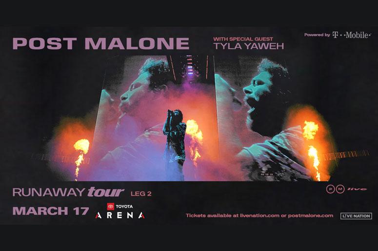 Post Malone Runaway Tour at Toyota Arena