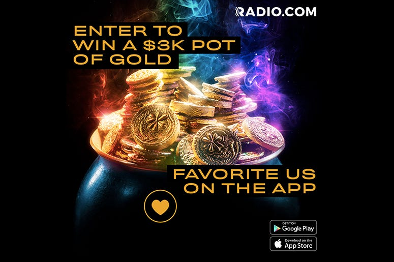 Win a 3k Pot of Gold When You Favorite CHANNEL Q on The RADIO.COM APP
