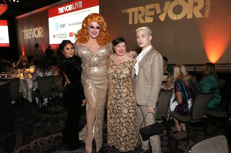 Mikalah and Nina West at Trevor Live Gala