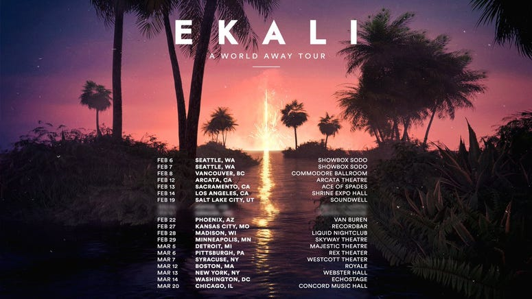 Ekali World Away Tour