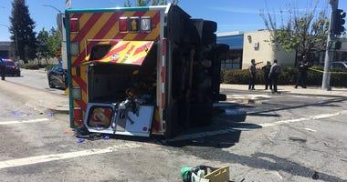 5 Injured In Crash Involving Ambulance In San Lorenzo
