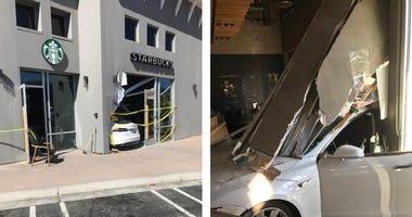 Car Crashes Through Los Gatos Starbucks