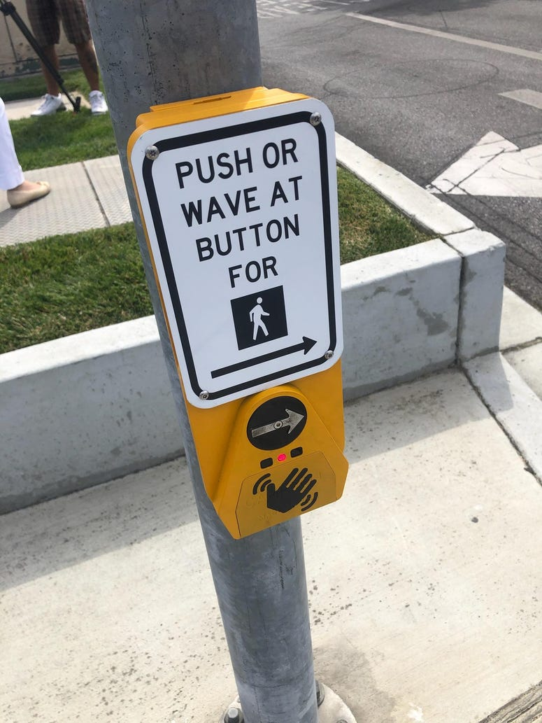 Santa Clara County engineers created a touch free device for activating crosswalks to be installed at 25 locations.