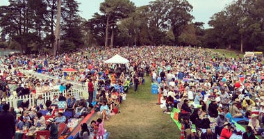San Francisco Opera annually holds a free concert in Golden Gate Park.