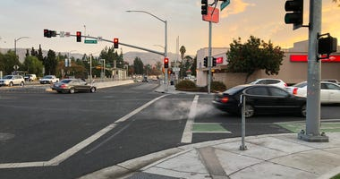The intersection of Alum Rock Avenue at Jackson in San Jose where a fatal hit-and-run accident occurred late Tuesday night.