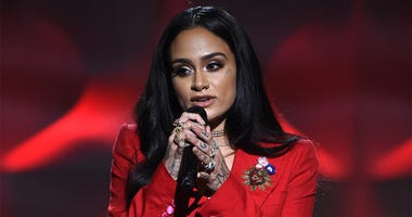 LOS ANGELES, CA - NOVEMBER 19: Kehlani appears at the 2017 American Music Awards at Microsoft Theater on November 19, 2017 in Los Angeles, California. (Photo by Frank Micelotta/PictureGroup)