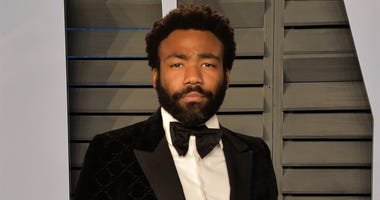 BEVERLY HILLS, CA - MARCH 4: Donald Glover arrives at the 2018 Vanity Fair Oscar Party at the Wallis Annenberg Center for the Performing Arts on March 4, 2018 in Beverly Hills, California.(Photo by Scott Kirkland/PictureGroup/Sipa USA)