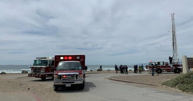 Crews on the scene after five teens were pulled from the water at Ocean Beach.
