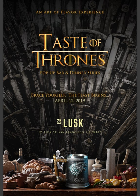 25 Lusk's 'Taste of Thrones'