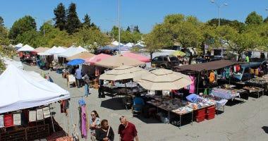 The Berkeley Flea Market at the Ashby BART station.