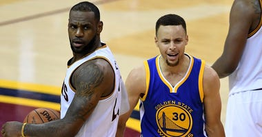 Cleveland Cavaliers LeBron James and Golden State Warriors Stephen Curry