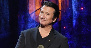 NEW YORK, NY - APRIL 07: 2017 Inductee Steve Perry of Journey speaks onstage at the 32nd Annual Rock & Roll Hall Of Fame Induction Ceremony at Barclays Center on April 7, 2017 in New York City. The event will broadcast on HBO Saturday, April 29, 2017 at 8