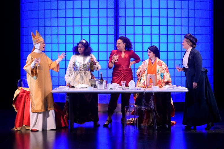 """A performance of """"Top Girls"""" by the American Conservatory Theater in San Francisco."""