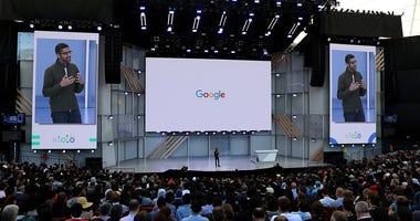 Google CEO Sundar Pichai at Shoreline Amphitheater