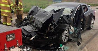 Tesla Crash in Utah