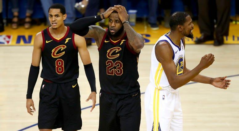 Game 1 of basketball's NBA Finals