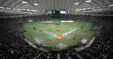 Oakland Athletics and the Seattle Mariners at Tokyo Dome in Tokyo