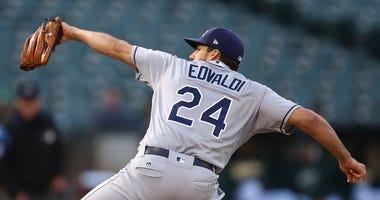 Tampa Bay Rays pitcher Nathan Eovaldi