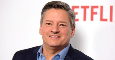 "FILE - In this Feb. 1, 2017 file photo, Netflix CCO Ted Sarandos arrives at the season one premiere of ""Santa Clarita Diet"" in Los Angeles. Sarandos says the streaming service is pulling its films from the Cannes Film Festival. Cannes earlier banned any f"