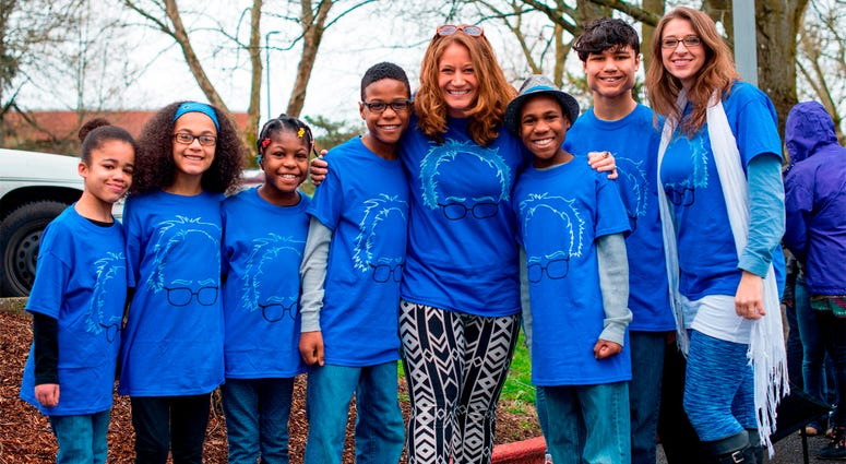 FILE - This March 20, 2016, file photo shows Hart family of Woodland, Wash., at a Bernie Sanders rally in Vancouver, Wash. A body was recovered Saturday, April 7, 2018, in the vicinity where an SUV plunged off a Northern California cliff last month, killi