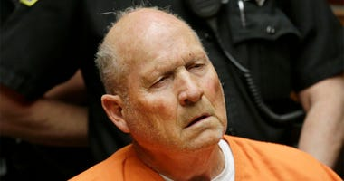 Joseph James DeAngelo, 72, who authorities suspect is the so-called Golden State Killer responsible for at least a dozen murders and 50 rapes in the 1970s and 80s, makes his first appearance, Friday, April 27, 2018, in Sacramento County Superior Court in