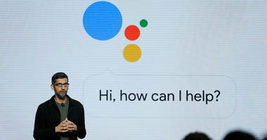 In this Tuesday, Oct. 4, 2016, file photo, Google CEO Sundar Pichai talks about Google Assistant during a product event in San Francisco. Google is likely to again put artificial intelligence in the spotlight at its annual developers conference, Thursday,