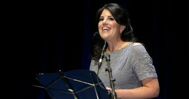 In this June 25, 2015, file photo, Monica Lewinsky attends the Cannes Lions 2015, International Advertising Festival in Cannes, southern France. A magazine apologized to Lewinsky after she said she was disinvited to an event because former President Bill