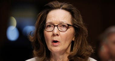 FILE - In this May 9, 2018, file photo, CIA nominee Gina Haspel testifies during a confirmation hearing of the Senate Intelligence Committee on Capitol Hill in Washington. The political schism in the Democratic Party is playing out in the vote for Haspel,