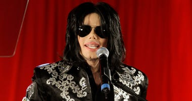 In this March 5, 2009 file photo, Michael Jackson announces upcoming concerts at the London O2 Arena in London. The estate of Michael Jackson is objecting to the airing Thursday night of an ABC TV special on the end life of the late King of Pop. The estat
