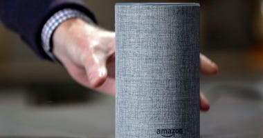 In this Sept. 27, 2017, file photo, a new Amazon Echo is displayed during a program announcing several new Amazon products by the company, in Seattle. Amazon has launched a version of Alexa for hotels that lets guests order room service through the voice