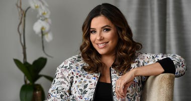 "In this March 6, 2018 file photo, actress-producer Eva Longoria poses for a portrait in Los Angeles. Longoria and her husband Jose ""Pepe"" Baston welcomed Santiago Enrique Baston into the world on Tuesday, June 19. They said they are so grateful ""for this"